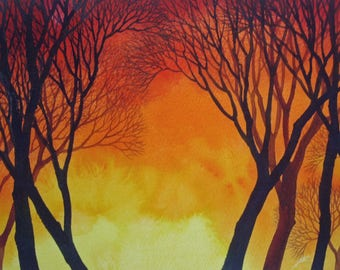 Sunset Lace II an original watercolor