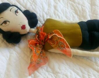 Sample Sale Susie - Vintage 1960s Inspired Rag / Cloth Doll