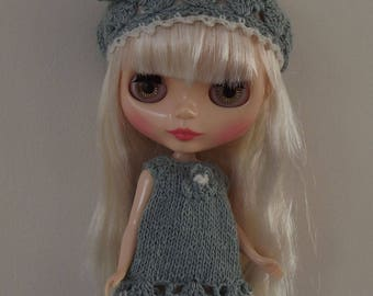 BLYTHE DOLL DRESS and Hat Blythe Outfit Knitted/Crochet Blythe Dress and Hat