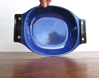 Grete Prytz Kittelsen Cathrineholm Norway, Royal Blue Enamel - Galloping Gourmet Tray