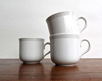 Seltmann Weiden Bavaria W. Germany Qualitats Porzellan, Trio of Quality Porcelain Coffee/Tea/Cocoa Cups