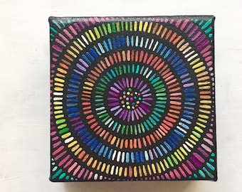 Colorful Lines Painting - Concentric Circles