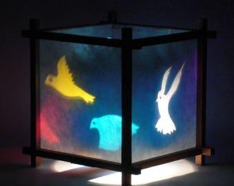 Birds in flight spinning Harmony Lantern