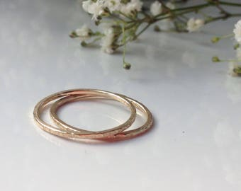 Skinny Gold Band. 9ct Gold Ring. 1mm Stacking Ring.