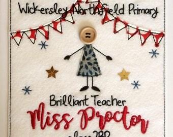 Whole Class Thankyou 'Brilliant Teacher' Card - Personalised
