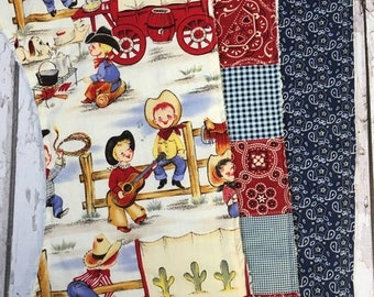 50% OFF Designer vintage cowboy print burp cloths