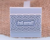 "38x38mm / 11/2"" Custom Signature Stamp For PMC, Art Clay, Metal Clays & Polymer"