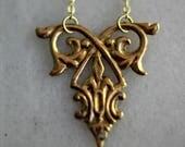 50%OFF Ornate Gold Brass Necklace