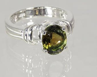 Multi Color Tourmaline 1.81 carats Handset in .925 Sterling Ring  -  NOW on SALE  -  Fast Free  Shipping with gift wrap