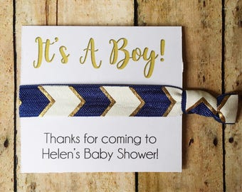 Boy Baby Shower Favors, Party Favors, Boho Baby Shower, It's a Boy, Boy Shower Favor, Baby Shower Favor, Hair Tie Favor, Personalized Favors