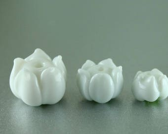 Lily of the Valley - Large, Medium or Small Lampwork Flower Beads SRA FHF