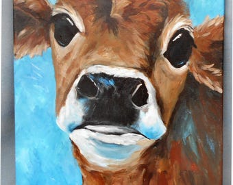 Guernsey Cow Study Original Painting