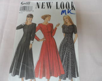New Look 6088 Misses Button Front Fit and Flare Dress Pattern  Size 8-18 Uncut