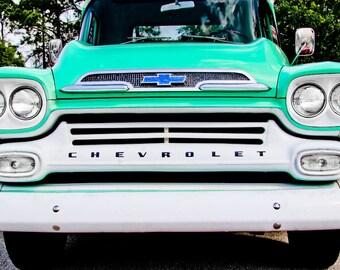 1950's Chevrolet Apache 31 Truck Car Photography, Automotive, Auto Dealer, Muscle, Sports Car, Mechanic, Boys Room, Garage, Dealership Art