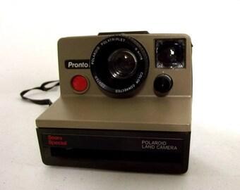 Two tone brown Polaroid Land Camera - Pronto  Sears Special