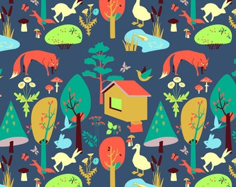 Forest Dwellers Fabric - The Life Of Forest Dwellers. By Veraholera - Woodland Nursery Decor Cotton Fabric By The Yard With Spoonflower