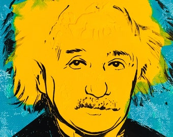 Albert Einstein pop art painting