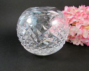 "Vintage Waterford 4"" Rose Bowl Gandore Pattern Waterford Flower Vase"