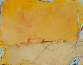 Abstract Landscape Painting, Modern Contemporary Painting, Original 16x16 Painting - West Elm artist, Coastal Decor, Wall Decor, Beach Decor