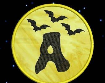 SALE 65% OFF Applique Halloween Moon Bats Monogram Fonts Machine Embroidery Designs - 4x4 Hoop Instant Download Sale