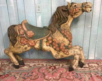 Vintage carousel horse fiberglass