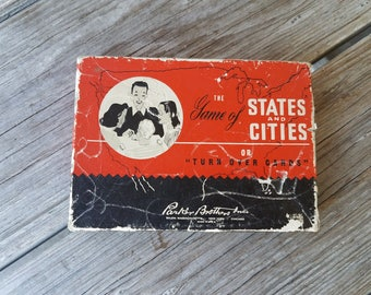 Vintage Parker Brothers  Game of States and Cities