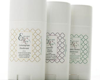 Reserved for Anne - 3 Natural Deodorants, All Natural Deodorant