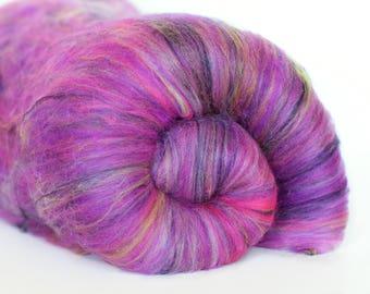 Rose Fade 3.4 oz  Wool - Merino // Art Batt // Wool Art Batt for spinning or needle felting