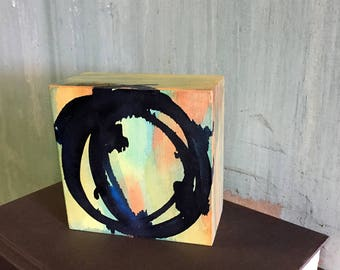 barbed / birch block painting