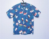 90s ROMEO + JULIET Vintage Hawaiian Button Up Shirt Club Kid Rave
