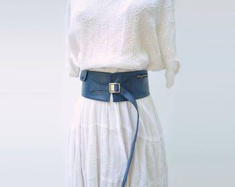 1940s Utility Belt Elk Hide Hip Belt Leather Fanny Pack Vintage Hip Belt Vintage Utility Belt 1940s Money Belt 40s Elk Leather Belt one sz