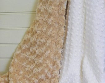 SALE Choose Your Own Color......Minky Baby Blanket Can Be Personalized
