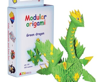 Modular Origami Kit Green dragon