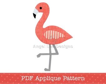 Flamingo Applique Pattern PDF Flamingo Applique Template