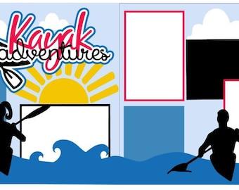 Kayak Adventures 2-page 12x12 do-it-yourself scrapbook kit