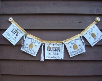 Bee Banner Inspirational Encouraging Banner