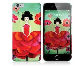 10% Off - Summer SALE Phone Case - Anemone - iPhone 5 - 5C - iPhone 6 - iPhone 6Plus - Samsung Galaxy