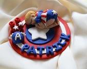 Reserved For Kristen  Baby Super Hero Captain America Cake Topper