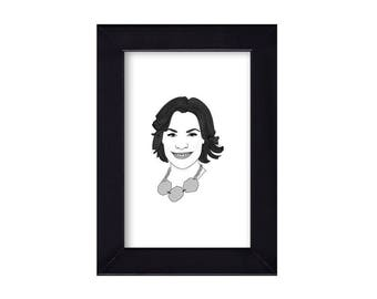 4 x 6 Luann de Lesseps / Real Housewives of New York City Portrait
