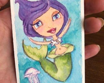 Mermaid With Purple Hair