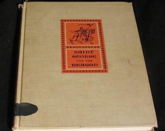 Saint George and the Dragon by Edmund Spenser Vintage book 1963