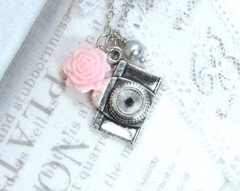 Photographer Jewelry Camera Charm Necklace Photography Necklace Camera Gift Shabby Chic Necklace