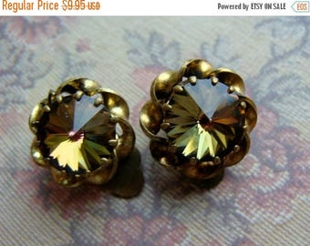 ONSALE Antique Rhinestone Earbobs