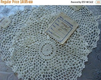 ONSALE Gorgeous Antique crocheted Ivory/Off White Handmade Doilies Lot
