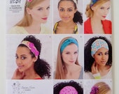 Fabric Headbands Sewing Pattern, Optional Bird and Flower Felt Embellishments, Simplicity 1791, Hair Accessories, One Size UNCUT