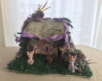 Violet | Handmade Fairy House | Devana's Lore