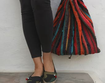 Bohemian Backpack. Kilim Fabric Backpack. Unique Gift for Women. Travel Bag. Multicolor Bag. Hippie Upcycled Bag. Unique Gift for Women