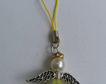 Yellow guardian angel charm
