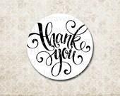 Thank You Sticker Wedding Baby Birthday Shower Sticker Treat Bag Party Favor Sticker SP016