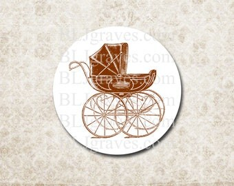 Baby Shower Stickers Baby Boy Girl Pram Carriage Baby Shower Party Favor Treat Bag Stickers SB002